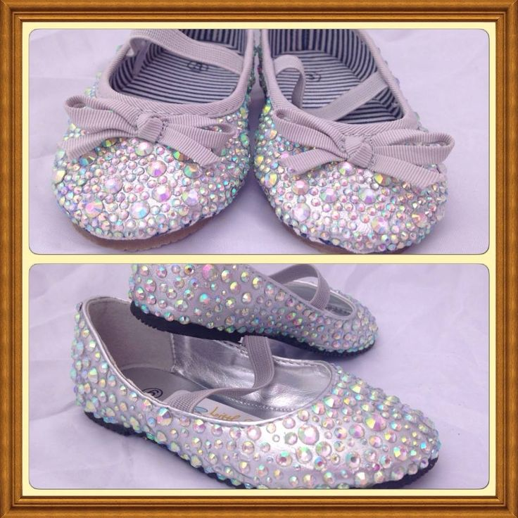 Handmade by Little Buzzy Bee Silver Sparkle Shoes