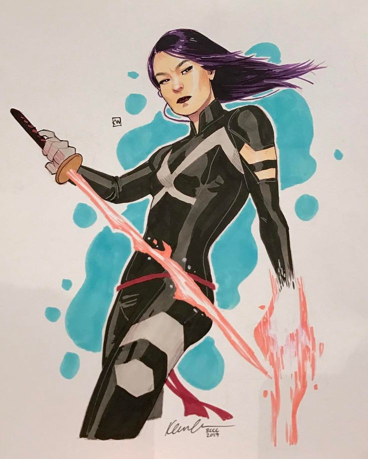 kevin wada illustration: Psylocke #ECCC