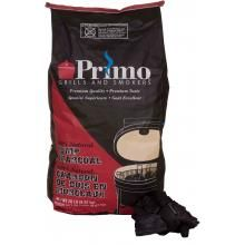 Primo 100 percent all-natural lump charcoal is the premium choice fuel for grills and smokers. It lights faster, burns hotter and longer, and produces less ash than traditional briquette style charcoal.