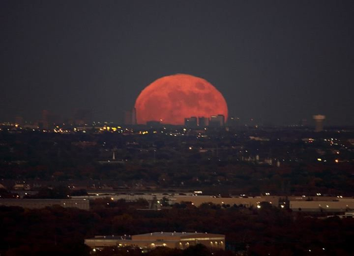 Moon Over Fort Worth Texas Scenery Landscape Photos