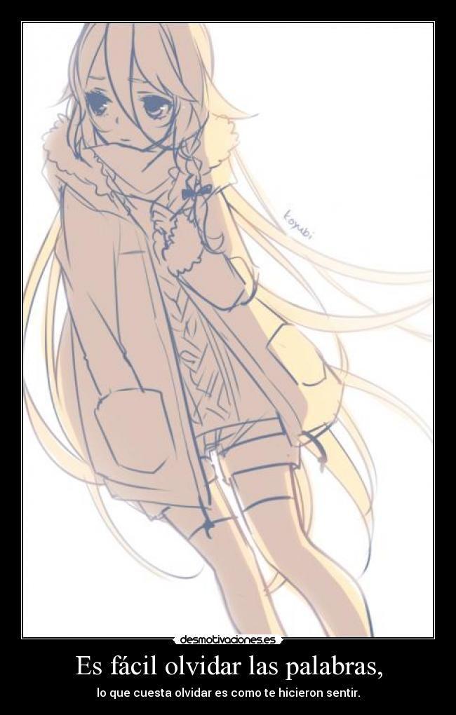 carteles olvidar anime vocaloid desmotivaciones