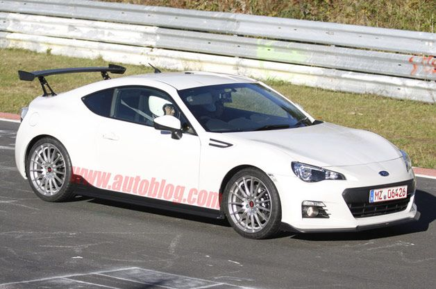 Possible Subaru BRZ STI sighting on the 'Ring