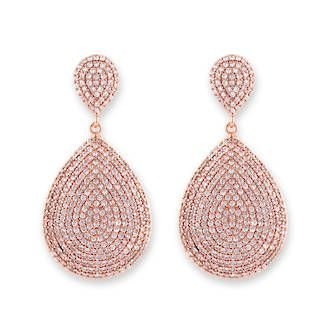 Buy Rose Gold Teardrop Pave Earrings at competitive prices from Fishers on Cameron