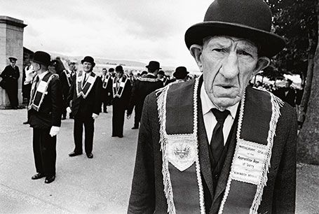 Un orangiste en Irlande du Nord, 1969. © Fondation Gilles Caron/Contact Press Images