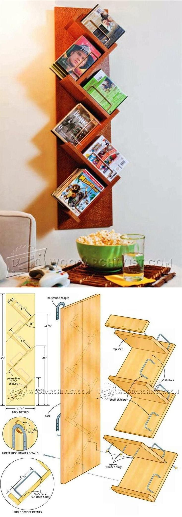 Media Storage Shelf Plans - Furniture Plans and Projects | WoodArchivist.com