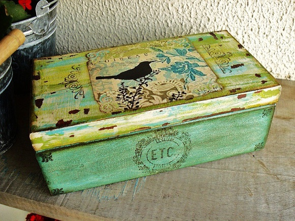 paint and decoupage - box
