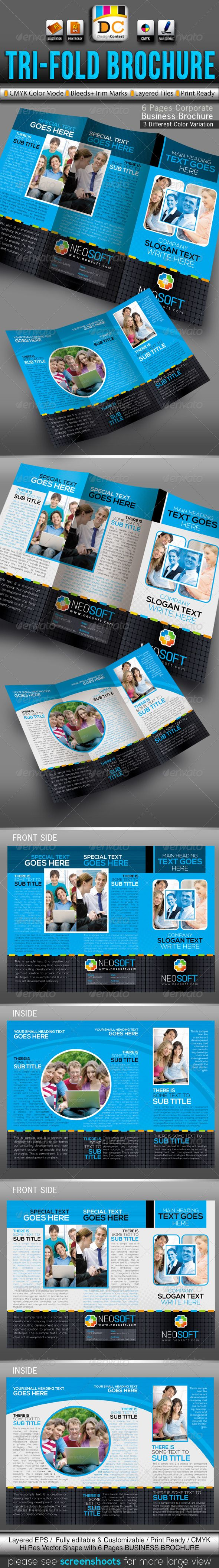NeoSoft Tri-fold Corporate Business Brochure
