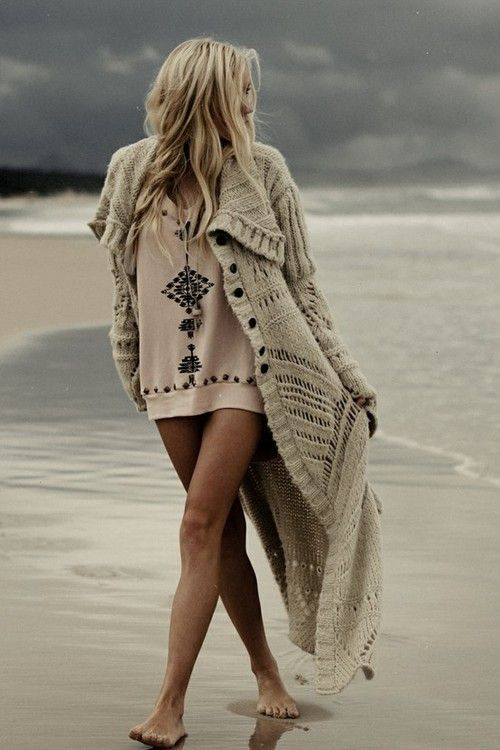 The Darker Horse: Sweaters on the Beach