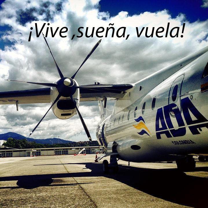 Foto tomada por el auxiliar de aeropuerto Michael Gómez