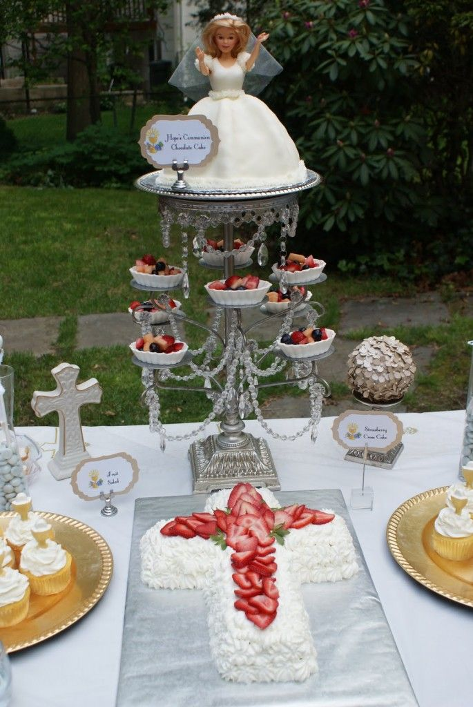 Communion party ideas first holy communion decorations birthday and other events inspirations - Holy communion cake decorations ...