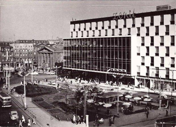 Dom handlowy Zenit na katowickim rynku. Zdjęcie ze zbiorów Marka Wójcika #katowice #PRL