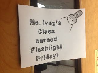 Sparking Student Motivation: Flashlight Friday! During silent reading time the lights go off and students use flashlights to read by.