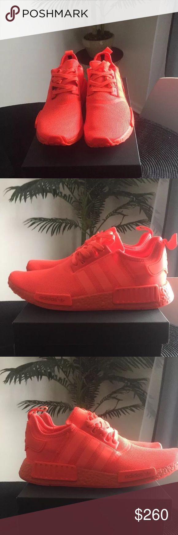Adidas NMD R1 TRIPLE SOLAR RED ADIDAS NMD R1 TRIPLE SOLAR RED.   COLOR: SOLAR RED  STYLE# S13507 Adidas Shoes Sneakers