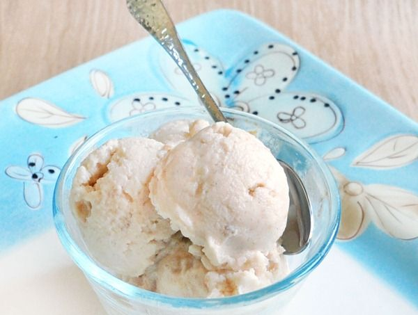 Pb almond milk ice cream. Made this tonight in my blendtec. Yum yum yum. Added in half a frozen banana.