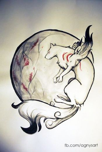 """""""Okami Amaterasu"""" #Watercolor #Fanart #Games #Animals"""