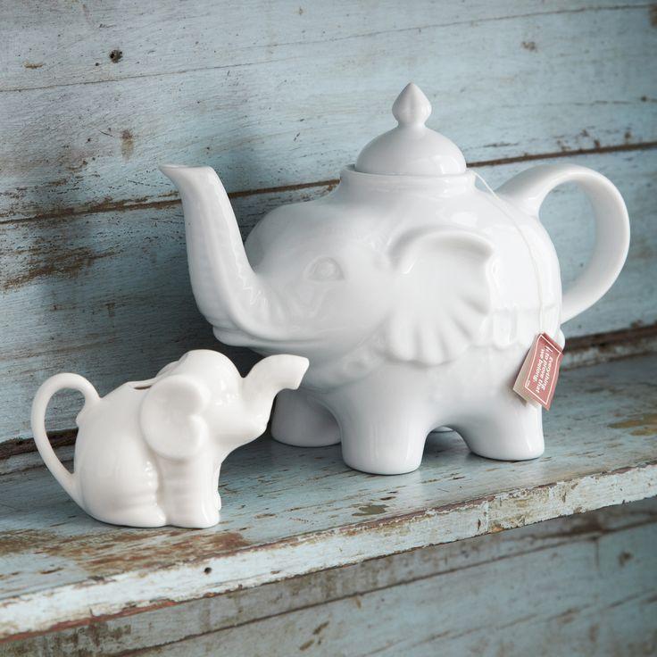 Elephant Tea Pot and Mini Milk Jug