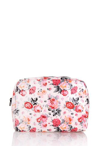 Romantic Rose Large Cosmetic Bag | FOREVER21 - 1000106647 $6.80