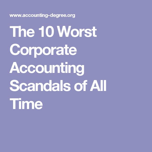 accounting scandals Causes of accounting scandals: the accounting entities and accountants of the world have defined several standards and ethical guidelines that need to be and must be followed by the accountants so that things are not misrepresented and no wrong information is provided to the investors.
