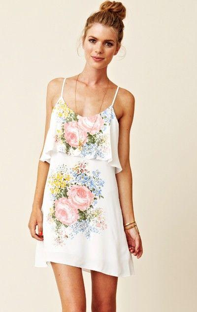 Blu Moon Silk Summer Lovin' Dress Floral Dress cute #collectiondress #sunayildirim #FloralDress #Floral #Dress #newdress www.2dayslook.com