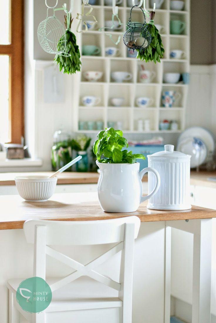 Minty House kitchen, Ib Laursen, white & green