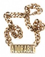 Collier doré Adorable porté par Anne-Sophie Girard #VTEP
