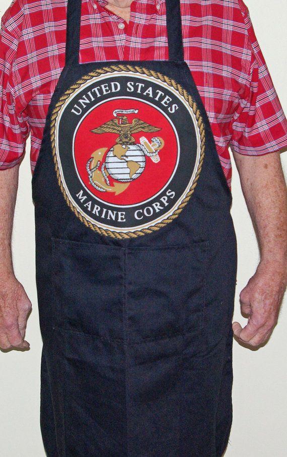 US  Marine BBQ Cooking Apron AGiftToTreasure by AGiftToTreasure, $30.00