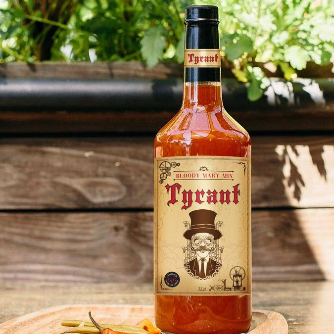 Create an old school, high-end label for our original bloody mary mix (looking for weathered, wrinkled type of label) by Pro Retouch & Design