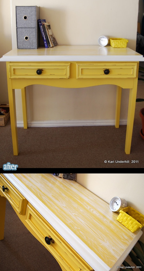 1000 Ideas About Yellow Desk On Pinterest Painted
