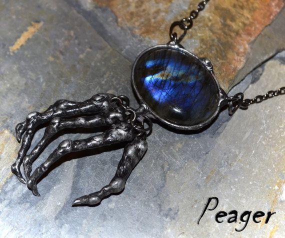 Halloween Labradorite necklace