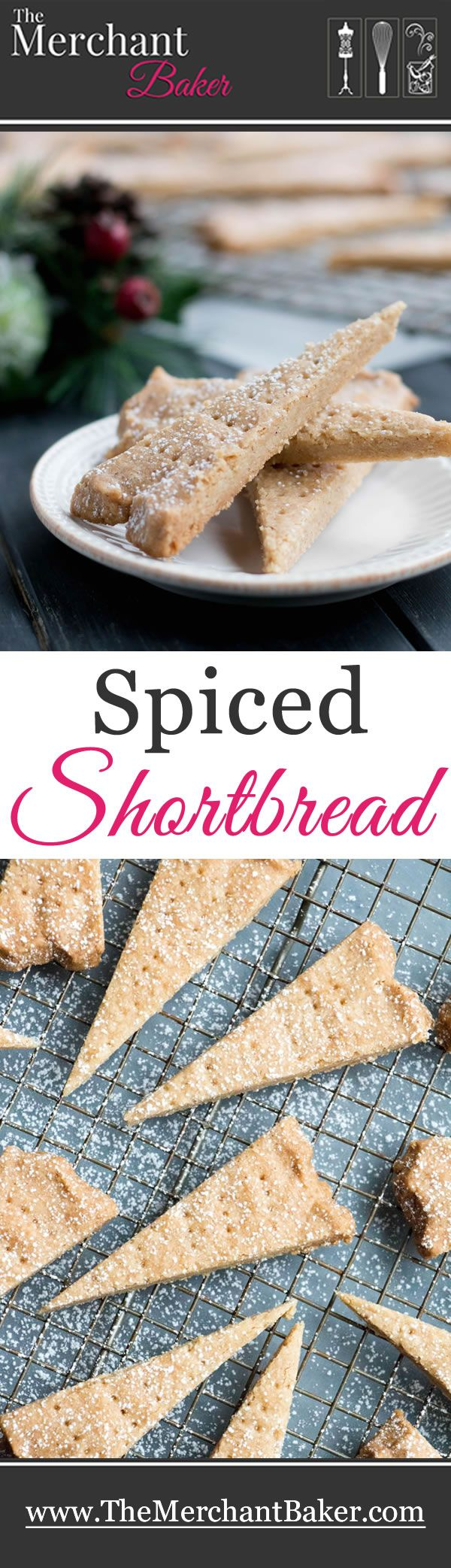 Spiced Shortbread mixes up in one bowl and bakes up to a lovely buttery, crisp but tender cookie that has the added warmth of cinnamon, ginger and cloves.
