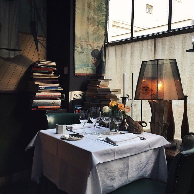 At Restaurant Petrelle, the menu was designed to match the romantic interior. The food is rich, rustic, and heavy on fresh vegetables grown in the chef's own garden.