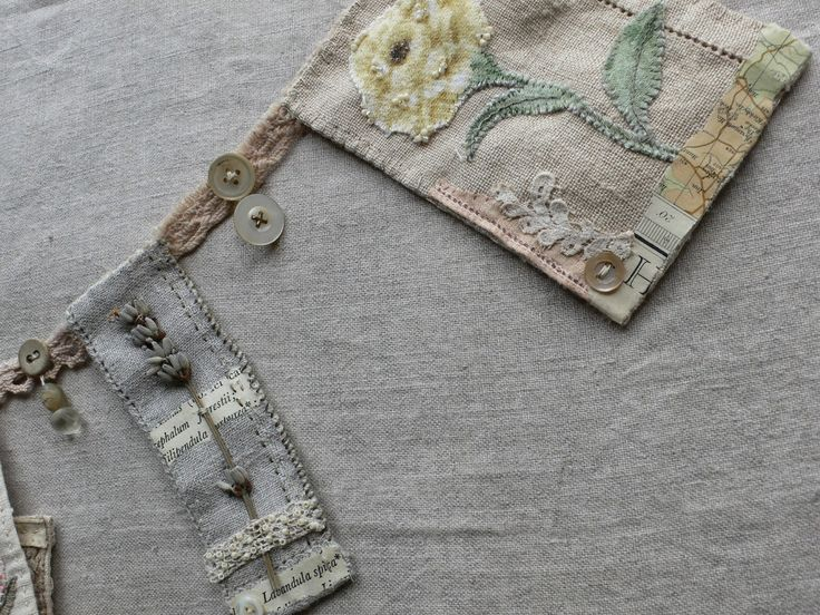 What about using all those little pieces of old embroidery and lace, adding left over scraps of material etc to make some special bunting? gentlework: Botanical Bunting