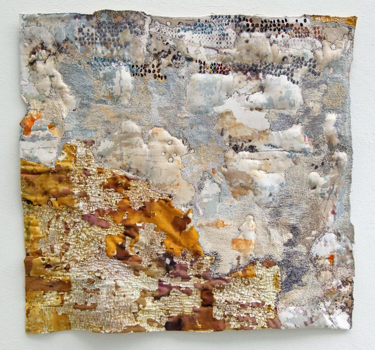 'Blown' By Sue Hotchkis - inspired by the deteriorating walls of Pompeii bearing silent witness to the march of time.