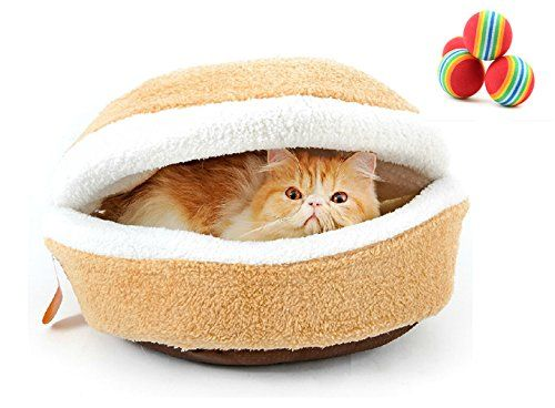 "#Cozy #Cat #Bed #Cave, M&G #House #Mongolian #Yurt #Shaped #House #Windproof #Removable #Pet #Cat #Bed #Thermal #Hiding #Dog #Sleeping #Bag Application-this #pet #bed size 18.11 x 13.78 x 10.24"", for #pet less than 5 kg Practicality-this detachable #pet #bed is washable ,convenient snap buttons and can also be used as a #sleeping #bag Made of skin-friendly Shu Velveteen material,super soft, and high quality sponge filling, good keep warm performance https://travel.boutiqueclo"