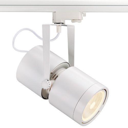 Dreh- und schwenkbarer Profi Hochvoltstrahler EURO SPOT G12 mit passendem Adapter für das 3 Phasen Hochvolt Schienen-System. Der für G12 Entladungslampen konzipierte Strahler ist durch das verbaute Vorschaltgerät für...