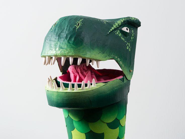 Schultüte Pappmaché Dinosaurier Paper funnel, school cone, papier-maché, dinosaur, school cornet