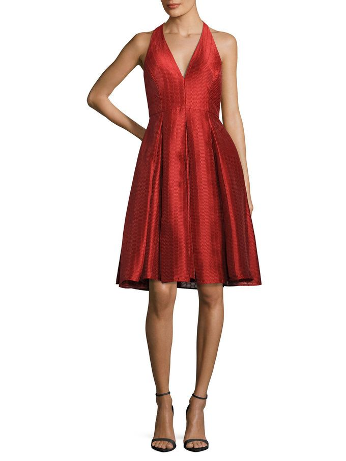 Halterneck Flared Cocktail Dress  from Up to 70% Off: Halston Heritage on Gilt