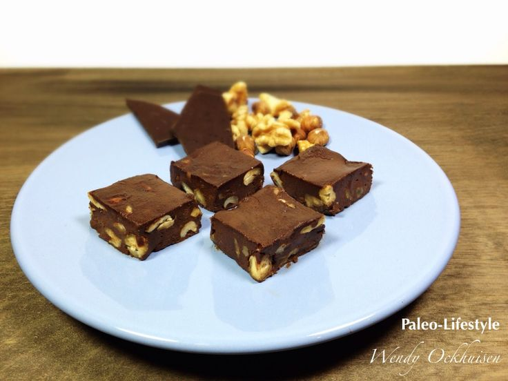 Paleo recept: Noten-chocolade-fudge