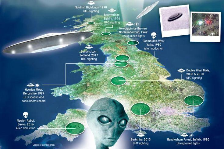 Desde o início dos anos 1900, ocorreram 104.947 relatos de OVNIs no mundo todo e mais de um décimo desses avistamentos ocorreram no Reino Unido