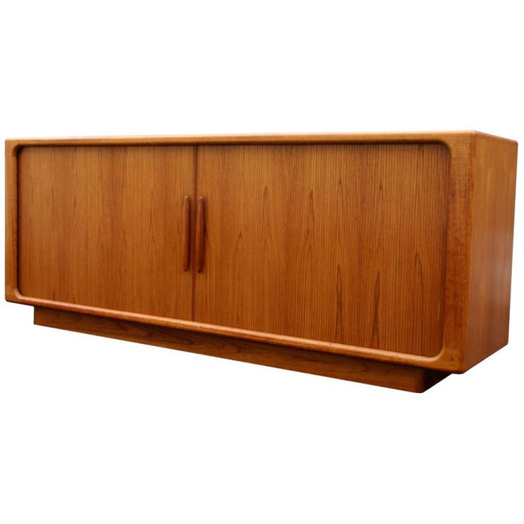 Danish Tambour Teak Sideboard | From a unique collection of antique and modern sideboards at https://www.1stdibs.com/furniture/storage-case-pieces/sideboards/
