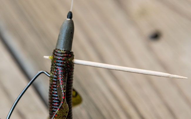 toothpick for bass fishing texas rigs