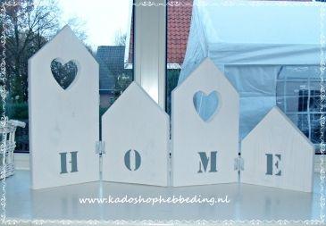 Vierluik houten huisjes HOME
