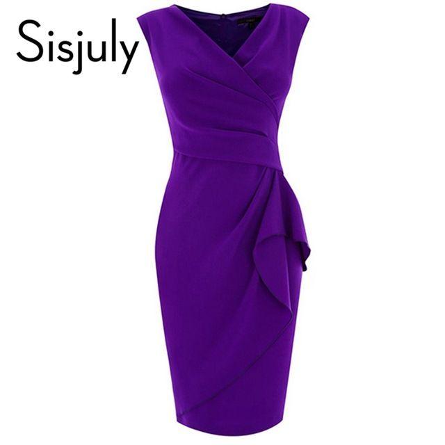 Sisjuly Summer Bodycon Dress Sexy Women Dress  V-Neck Sleeveless Women's Sheath Dress Sleeveless