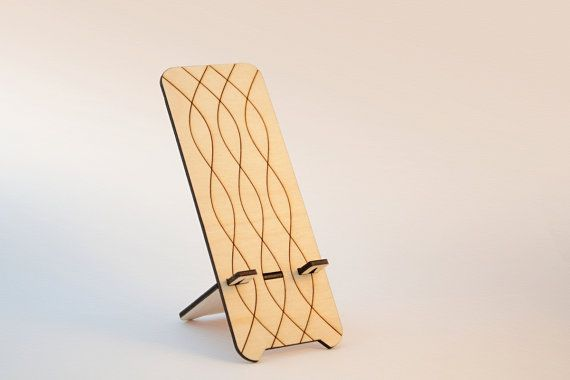 Phone Stand Wooden docking station for iPhone by InspirativeLaser