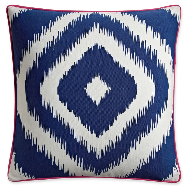 happy chic jonathan adler blue and white outdoor pillow all about blue and white pinterest. Black Bedroom Furniture Sets. Home Design Ideas