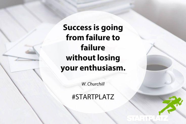 "🚀 #MondayMotivation im STARTPLATZ 🚀 ""Success is going from failure to failure without lossing your enthusiasm."" - W. Churchill #SilikölnValley #läuftbeiuns  #STARTPLATZ #quote #startup #business #inspiration #innovation #life #coworking #Köln"
