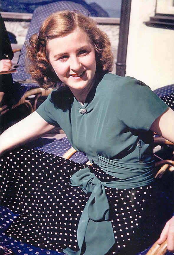 Eva Braun at the Berghof, undated -  in fact - an unfortunate girl, who never caused harm to anybody, but had chosen a wrong man...