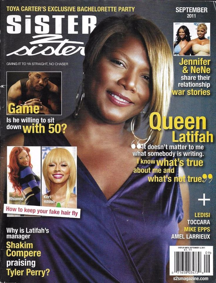 Sister 2 Sister magazine Queen Latifah Game Fake hair tips Ledisi Mike Epps
