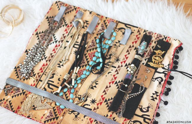 ++ travel smart & organized w/ this chic DIY jewelry roll! ++