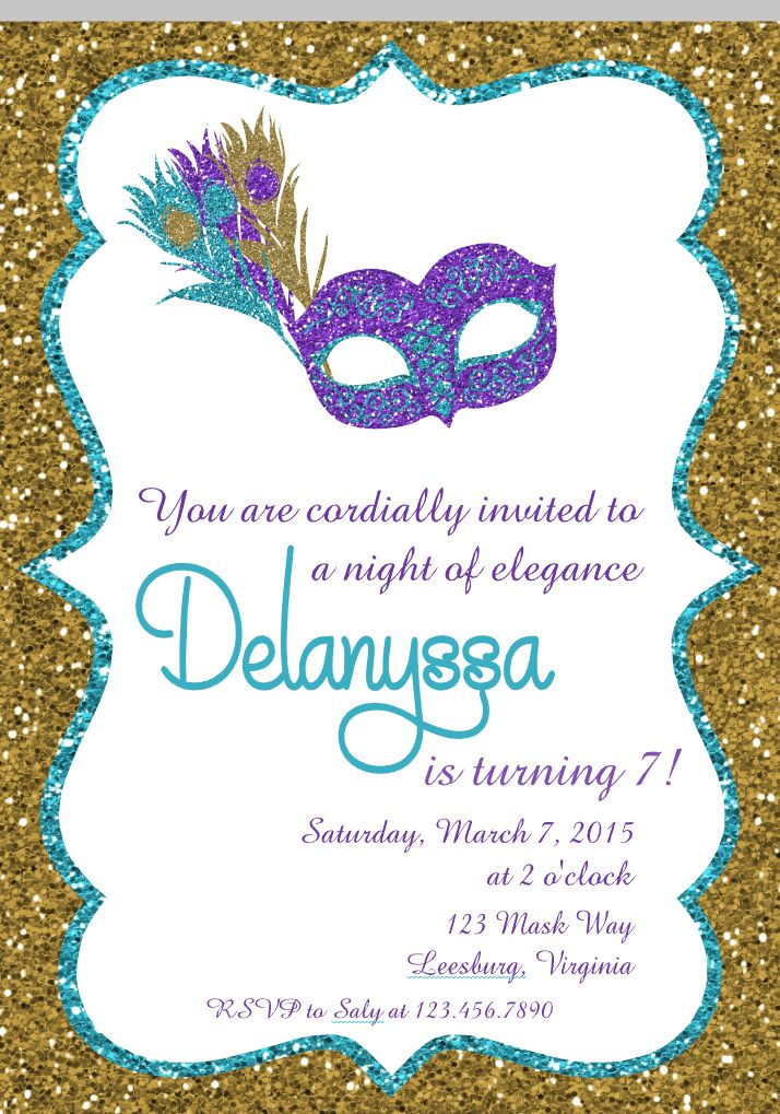 19 best Invitations images on Pinterest | Masquerade party, 2nd ...